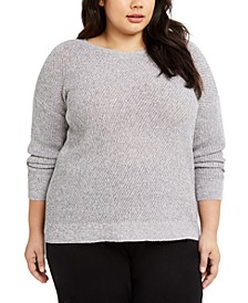 Plus Size Ballet-Neck Sweater