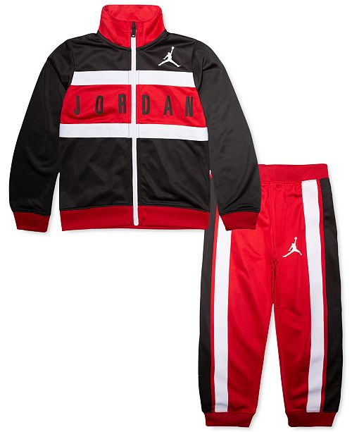 Jordan Little Boys 2-Pc. Colorblocked Tricot Jacket & Jogger Pants Set