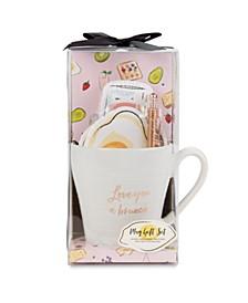 """Love You A Brunch"" Ceramic Mug & Stationary Gift Set"