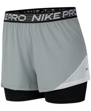 Nike Linings PRO PLUS SIZE DRI-FIT FLEX 2-IN-1 SHORTS