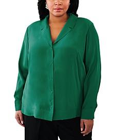 Plus Size Silk Blouse