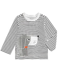 Baby Boys Striped Dog-Print T-Shirt, Created For Macy's
