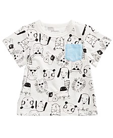 Baby Boys Animal-Print Cotton T-Shirt, Created For Macy's