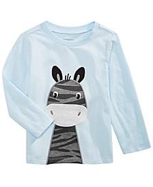 Baby Boys Zebra-Print Cotton T-Shirt, Created For Macy's