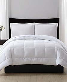 Embossed Dot Seersucker Down Alternative Comforter, Full/Queen