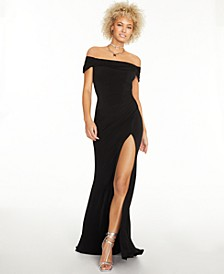 Juniors' Off-The-Shoulder Gown, Created For Macy's
