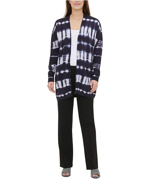Calvin Klein Cotton Tie-Dye Cardigan