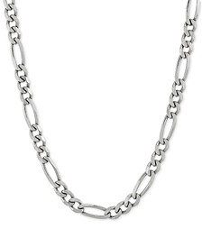 "Figaro Link 18"" Chain Necklace in Sterling Silver"