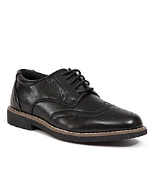 Little Boys and Big Boys Creston Jr. Memory Foam Dress Comfort Wingtip Oxford