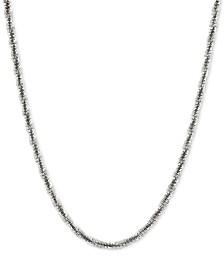 "Crisscross Twist Link 24"" Chain Necklace in Sterling Silver"