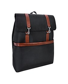 "Element 17"" Nylon Flap-Over Laptop Tablet Backpack"