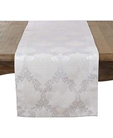 """Damask Luxury Table Runner, 15"""" x 90"""""""