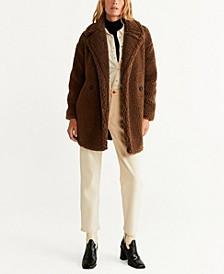 Faux Shearling Oversized Coat