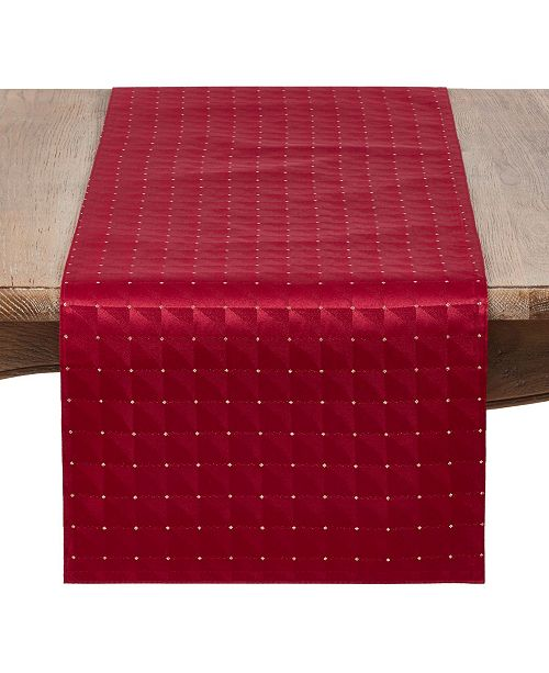 Saro Lifestyle Holiday Table Runner with Checkered Design