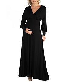 Formal Long Sleeve Maternity Maxi Dress