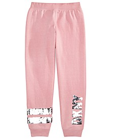 Big Girls Flip-Sequin Fleece Jogger Pants
