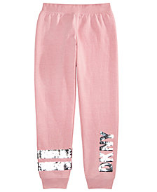 DKNY Big Girls Flip-Sequin Fleece Jogger Pants