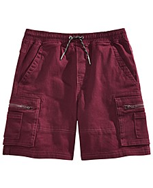 Big Boys Mackay Twill Cargo Short with Angled Zip Pockets, Created for Macy's