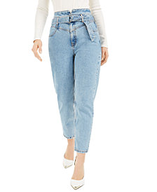 GUESS Belted 80's Straight Jeans