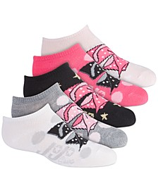 Nickelodeon 5-Pk. No-Show Socks, Little Girls & Big Girls