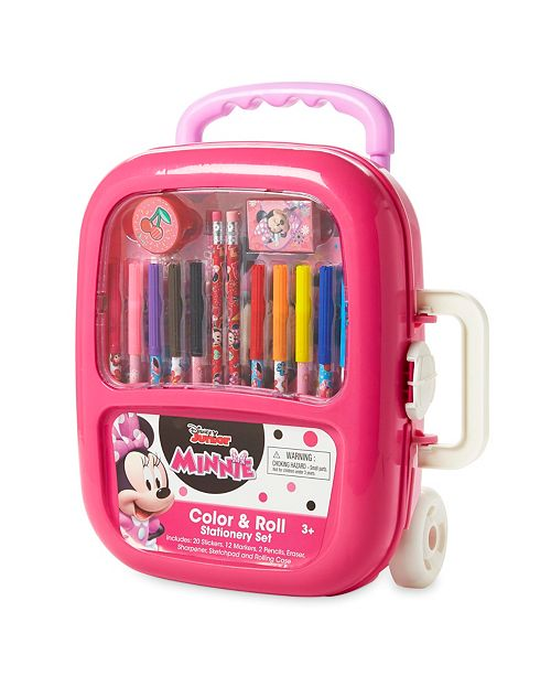 Tri-Coastal Design Minnie Mouse Color And Roll Stationary Set