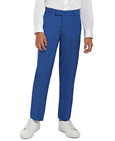 Big Boys Solid Textured Weave Dress Pants
