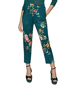 Floral-Print Straight-Leg Trousers