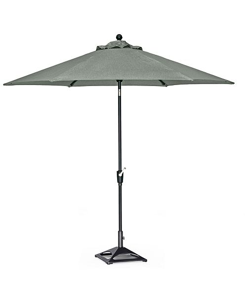 Furniture Outdoor 9' Auto-Tilt Umbrella and Base with Sunbrella® Fabric (Highland & Montclaire), Created For Macy's