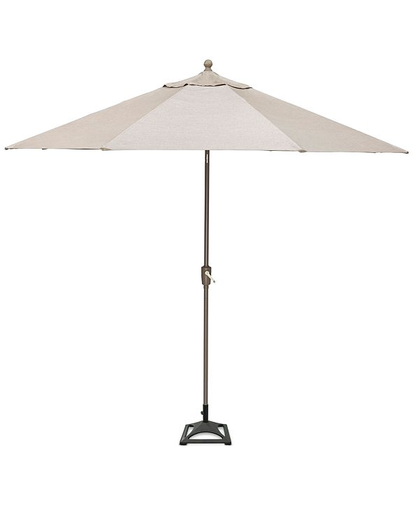 Furniture Wayland Outdoor 11' Umbrella and Base, with Sunbrella® Fabric, Created for Macy's