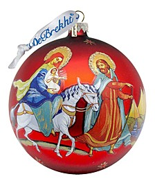 Nativity Ball Glass Ornament
