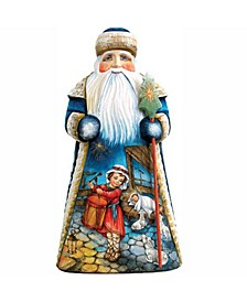 Woodcarved and Hand Painted My Gift To You Santa Figurine