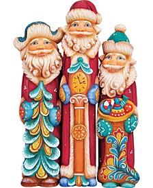 Derevo 3 Piece Tall Santa Figurine Set