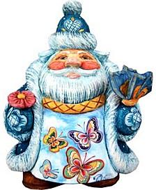 Scenic Santa with Butterflies Figurine