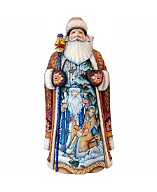 G Debrekht Woodcarved And Hand Painted Magic Night Father Frost Santa Figurine Reviews Shop All Holiday Home Macy S