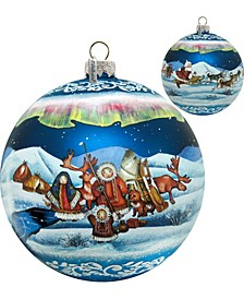 Limited Edition Oversized Northern Light Ball Glass Ornament