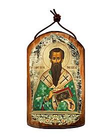 Saint Basil Wooden Greek Christian Orthodox Icon Ornament