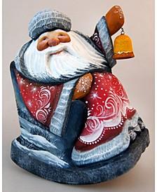Woodcarved and Hand Painted Santa Masterpiece Old World Seasons Greetings Figurine