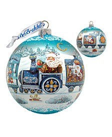 Limited Edition Oversized Holiday Express Glass Ornament