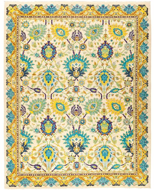 """Timeless Rug Designs CLOSEOUT! One of a Kind OOAK2759 Cream 8'10"""" x 11'4"""" Area Rug"""
