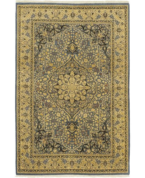 """Timeless Rug Designs CLOSEOUT! One of a Kind OOAK77 Flax 6'1"""" x 9'1"""" Area Rug"""