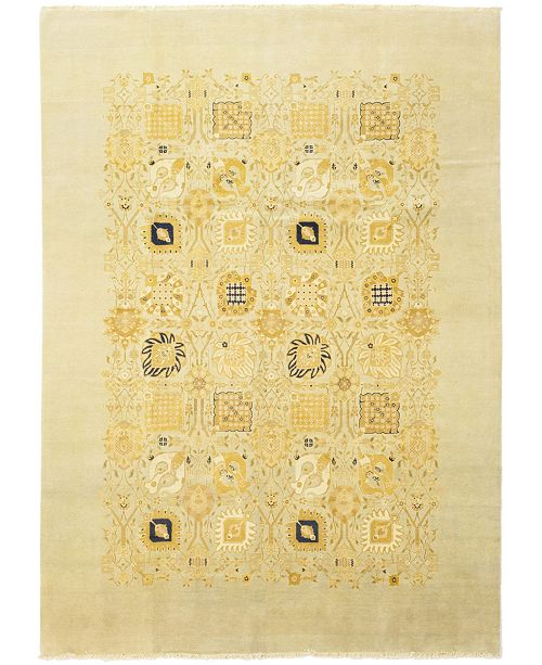 """Timeless Rug Designs CLOSEOUT! One of a Kind OOAK157 Ivory 10'1"""" x 14'5"""" Area Rug"""