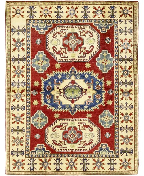 """Timeless Rug Designs CLOSEOUT! One of a Kind OOAK228 Red 5'1"""" x 6'9"""" Area Rug"""