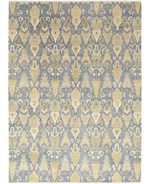 "Timeless Rug Designs CLOSEOUT! One of a Kind OOAK303 Blue 9'1"" x 12'4"" Area Rug"