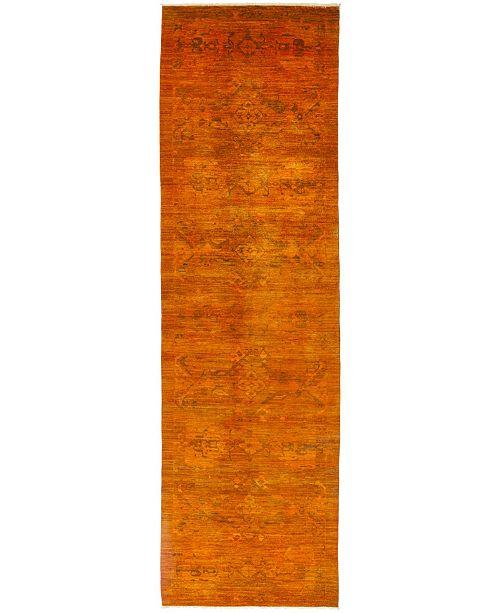 "Timeless Rug Designs One of a Kind OOAK488 Tangerine 4'2"" x 14'5"" Runner Rug"