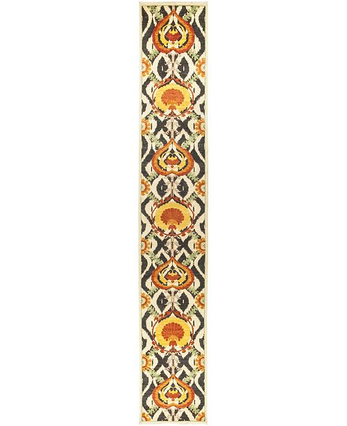 """Timeless Rug Designs CLOSEOUT! One of a Kind OOAK517 Yellow 2'5"""" x 15'8"""" Runner Rug"""