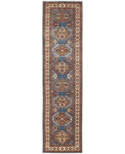 "Timeless Rug Designs CLOSEOUT! One of a Kind OOAK712 Blue 2'7"" x 9'10"" Runner Rug"