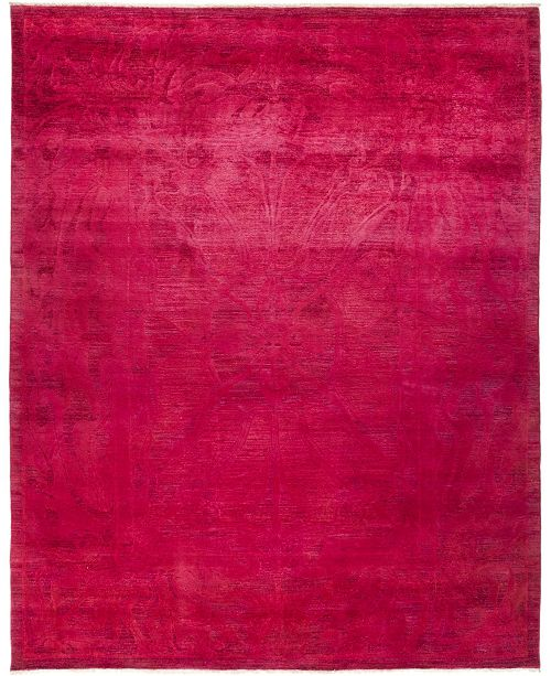 """Timeless Rug Designs CLOSEOUT! One of a Kind OOAK734 Pink 9'1"""" x 11'4"""" Area Rug"""