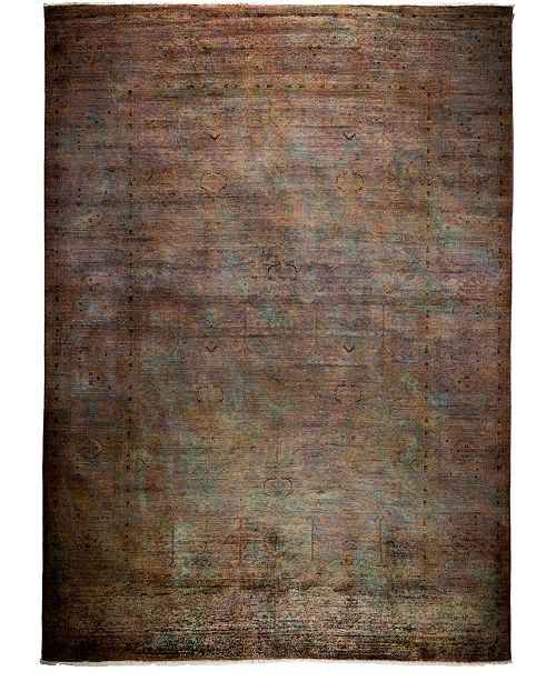 "Timeless Rug Designs One of a Kind OOAK3842 Cocoa 9'10"" x 13'9"" Area Rug"