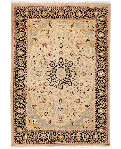 "Timeless Rug Designs CLOSEOUT! One of a Kind OOAK3743 Hazelnut 6'2"" x 8'10"" Area Rug"