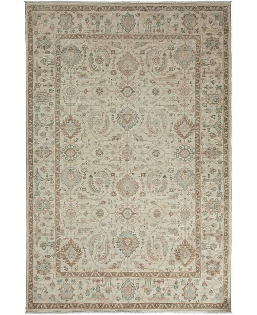 "Timeless Rug Designs CLOSEOUT! One of a Kind OOAK3444 Bone 6' x 9'1"" Area Rug"